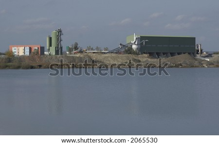 Gravel industry - stock photo