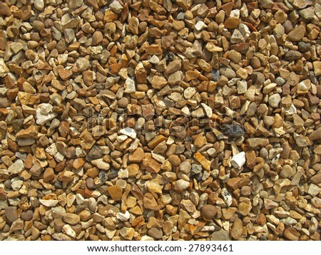 Gravel path made of flint stones that have been flattened.