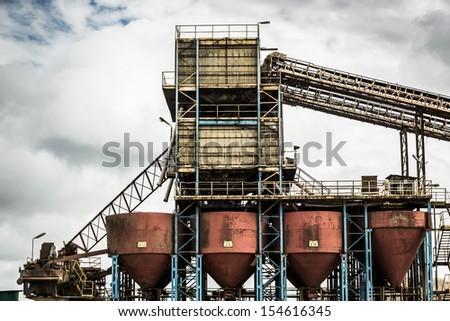 Gravel pit - stock photo