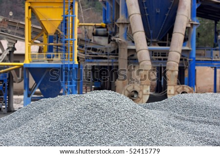 Gravel pits - stock photo