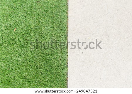 Gravel texture and strip grass as background - stock photo