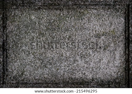 Gravestone template for halloween - stock photo