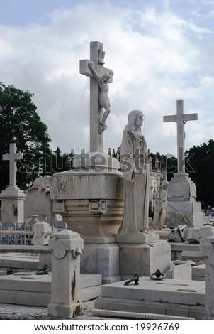 Graveyard, Havana - stock photo