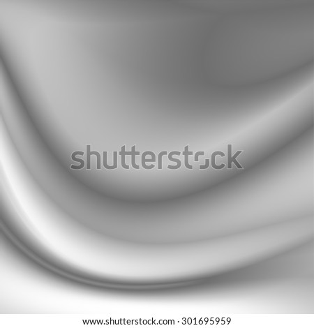 gray abstract background smooth silk curved lines pattern - stock photo