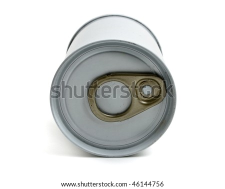 gray aluminum can