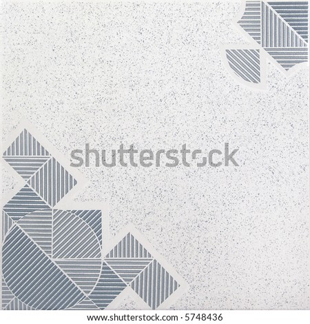 Gray and blue ceramic tile - stock photo