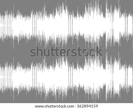 Gray and white abstract digital sound wave background. - stock photo
