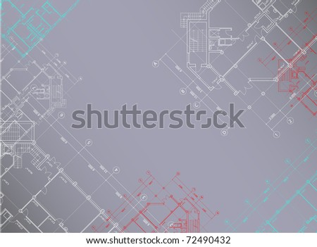 Gray architectural background horizontal(see eps version in my portfolio) - stock photo