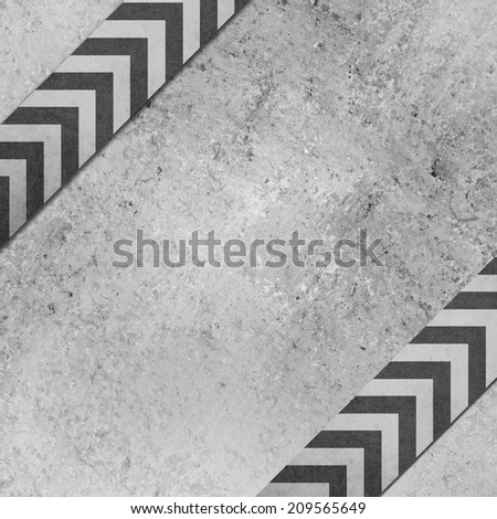 gray background paper with angled chevron striped ribbon pattern design with vintage grunge texture