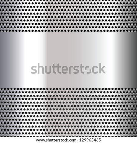 Gray background perforated sheet. Vector version also available - stock photo