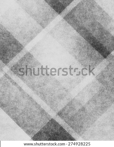 gray background with white and black stripes and faded linen texture design in angled striped or plaid pattern design element - stock photo