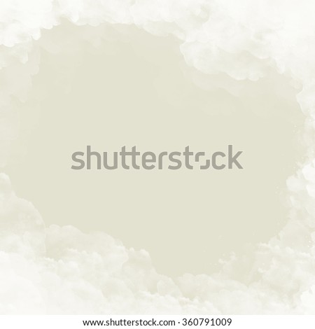 gray background with white clouds motif - abstract frame - stock photo