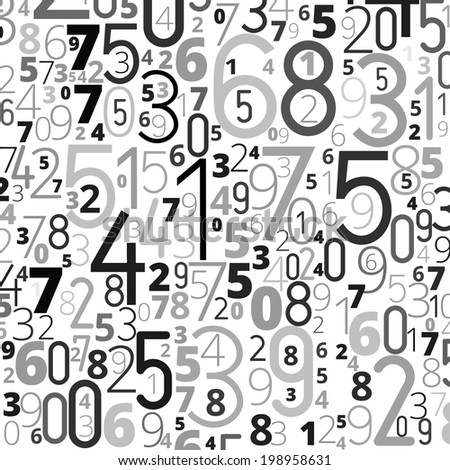 Gray black colored background  from numbers. Raster copy of illustration - stock photo