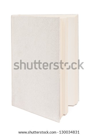 Gray book isolated on white background. Closeup - stock photo