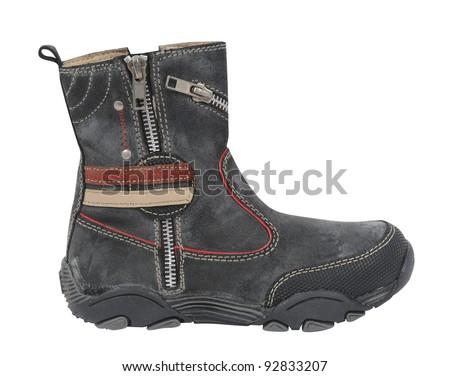 gray boot - stock photo