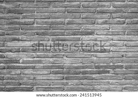 GRAY BRICK WALL TEXTURE - stock photo