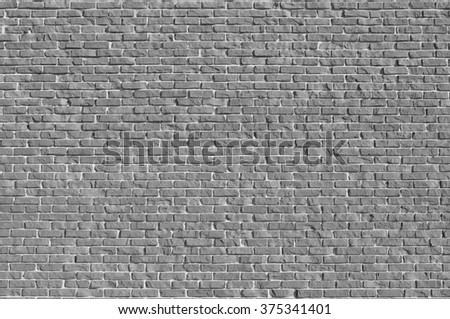 Gray brick walls texture - stock photo