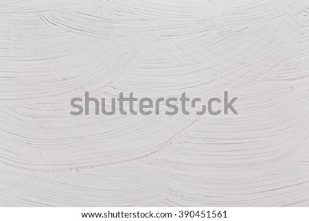 Gray Brushed white canvas or wall texture background - stock photo