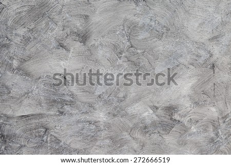 Gray Brushed white wall concrete texture background - stock photo