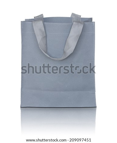 gray canvas bag - stock photo