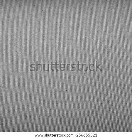 Gray canvas texture - stock photo