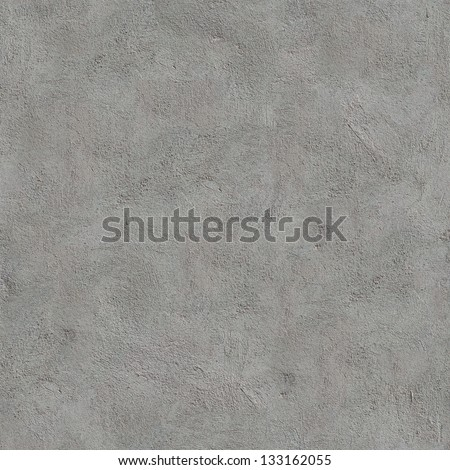 Gray Cement Wall. Seamless Tileable Texture. - stock photo