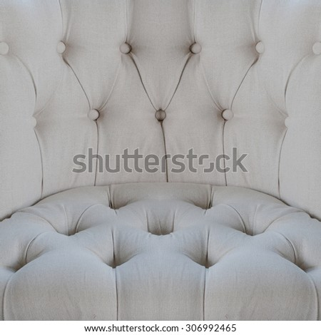 Gray color sofa cloth texture with buttons