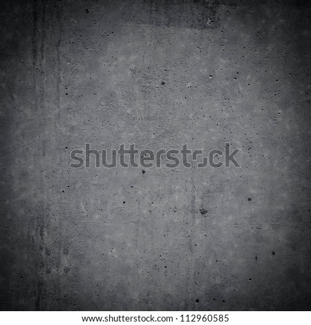 gray concrete wall background. Dark edged - stock photo