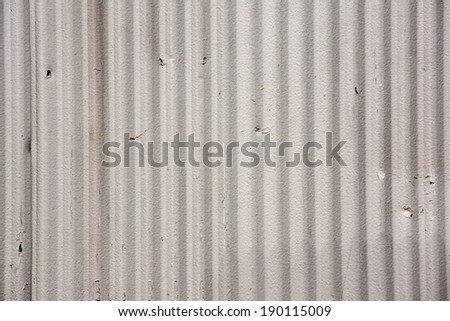 Gray Corrugated Metal Wall Background Texture - stock photo