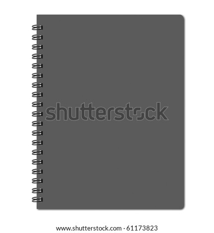 Gray cover of notebook