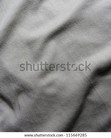 gray creased material background or texture - stock photo