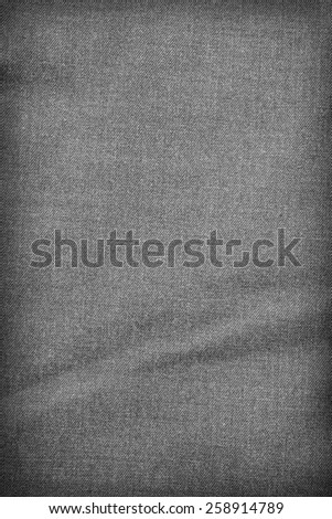 Gray fabric texture. Background with delicate striped pattern. - stock photo