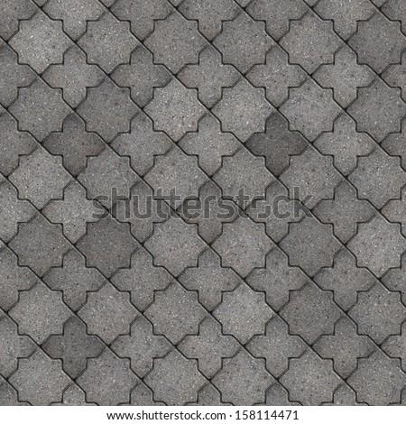 Gray Figured Pavement. Seamless Tileable Texture. - stock photo