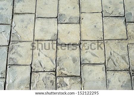 gray floor tiles - stock photo