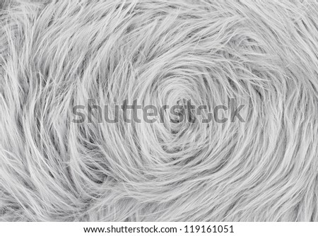 Gray fur texture, close-up.Useful as background - stock photo