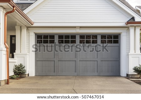 Gray Garage Door That Is Closed