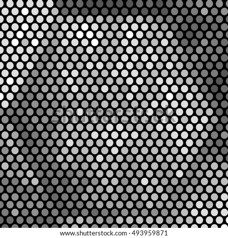 Gray geometric halftone pattern. Retro pointillism background. Abstract retro pattern dotted texture