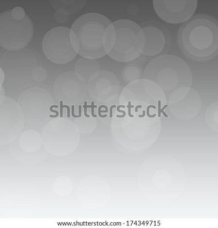 Gray gradient background with circles. - stock photo
