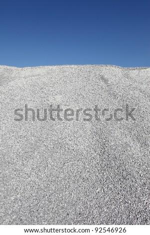 Gray gravel mound - stock photo