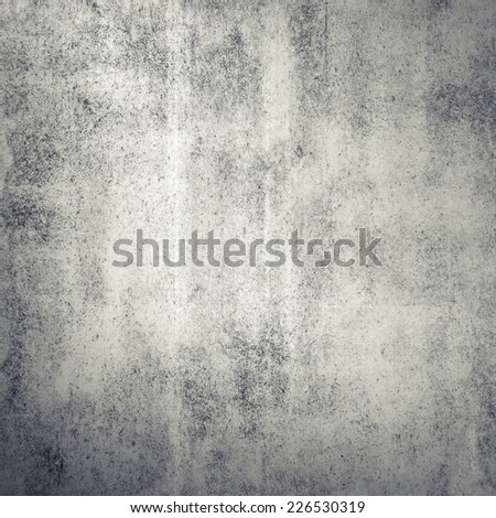 Gray grungy concrete wall, square background texture - stock photo
