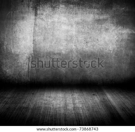 gray grungy room - stock photo