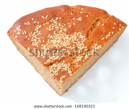 gray homemade bread seeds inside