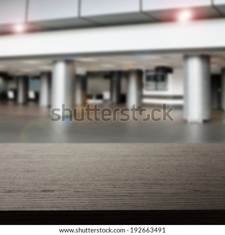 gray interior of airport and dark free space  - stock photo