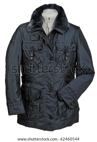 gray jacket - stock photo