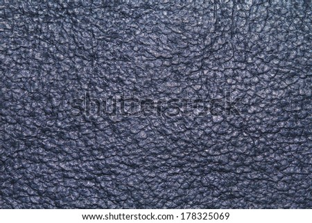 Gray Leather texture or background - stock photo