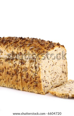 Gray loaf detail isolated on white background