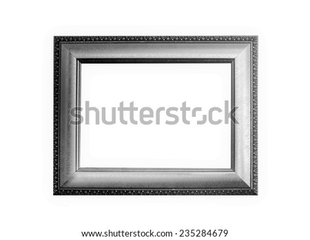 gray metal frame on a white background. - stock photo
