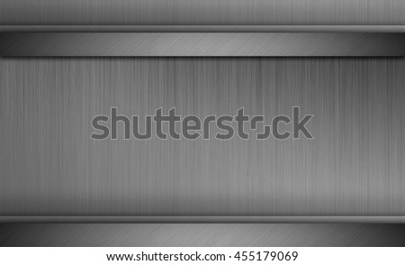 Gray metal texture background with brushed chrome surface