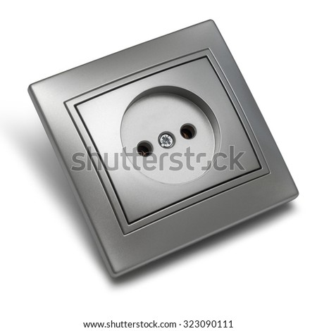 Gray outlet isolated on white background