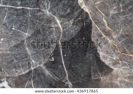 Gray patterned natural of dark marble patterned (Gold Russia) texture background.